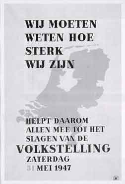 Poster Volkstelling